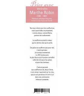 """Lot de 10 Signets """"Prier avec"""" Marthe Robin"""