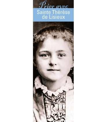 """Lot de 10 Signets """"Prier avec"""" Sainte Thérèse de Lisieux"""