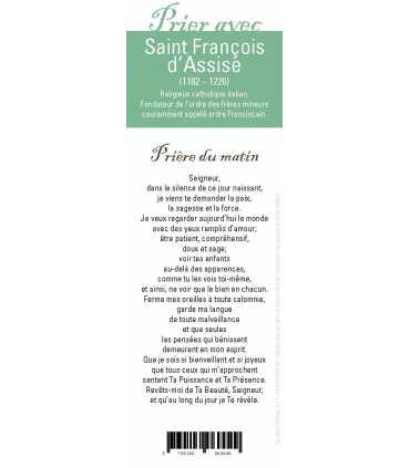 """Lot de 10 Signets """"Prier avec"""" Saint François d'Assise"""