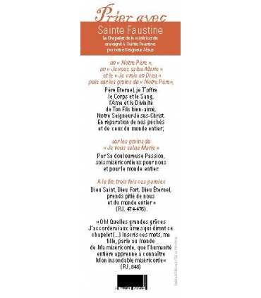 """Lot de 10 Signets """"Prier avec"""" Saint Faustine - La Miséricorde Divine"""