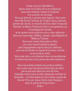 Prière à Saints Louis et Zélie Martin