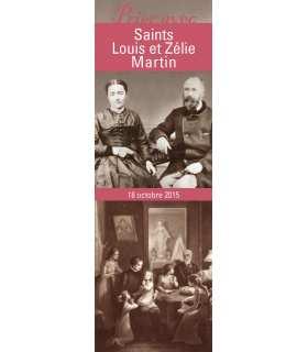 """Lot de 10 Signets """"Prier avec"""" Saints Louis et Zélie Martin"""