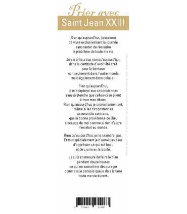 "Lot de 10 Signets ""Prier avec"" Saint Jean XXIII"