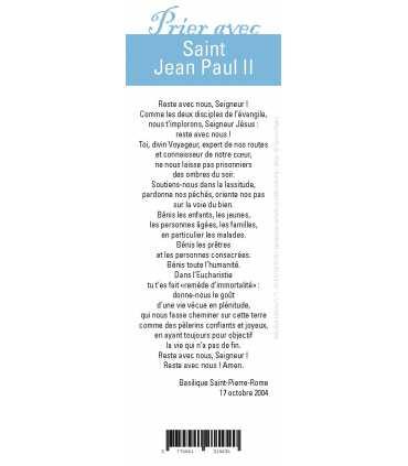 """Lot de 10 Signets """"Prier avec"""" Saint Jean Paul II"""