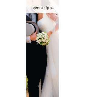 """Lot de 10 Signets """"Prière des époux"""""""