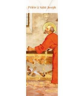 """Lot de 10 Signets """"Prière à saint Joseph"""""""