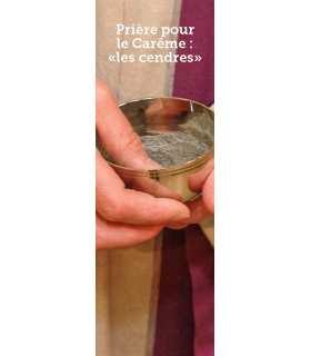 Signet Prière pour le Carême : ´les cendres´