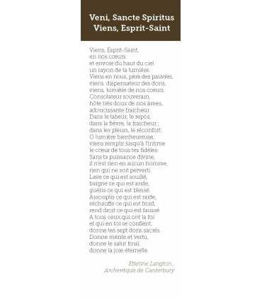 Signet Veni, Sancte Spiritus. Viens, Esprit-Saint