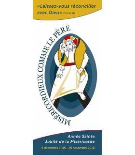 Kakémono Année Sainte de la Miséricorde - Laisser-vous réconcilier - Jubilée (Logo officiel fournie par les diocèses)