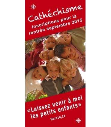 """Lot de Flyer personnalisable """"Inscription au cathéchisme """""""