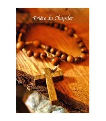 """Carte Prière """"Prière du Chapelet"""" (CA14-0012)"""