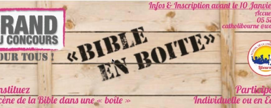La Bible en boite (lors du festival de la Lumière à Libourne, Gironde, Bordeaux)